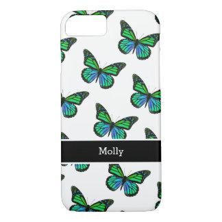 Capa iPhone 8/ 7 Design bonito do monograma da borboleta