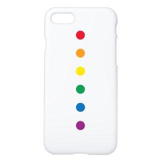 Capa iPhone 8/7 Design colorido do arco-íris do orgulho  