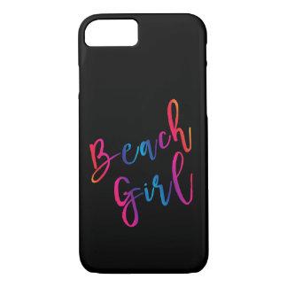 Capa iPhone 8/ 7 Design colorido do tema da praia