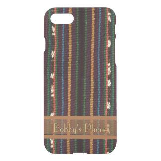 Capa iPhone 8/7 Design de tecelagem de Inka com seu nome