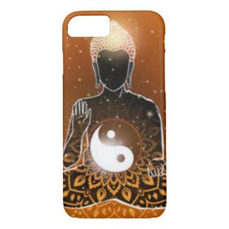 Capa iPhone 8/ 7 Design de Ying Yang da meditação de Buddha