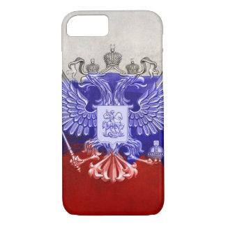 Capa iPhone 8/ 7 Design do Grunge da pintura da bandeira de Rússia