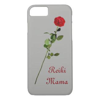 Capa iPhone 8/ 7 Design do Mama de Reiki da rosa vermelha