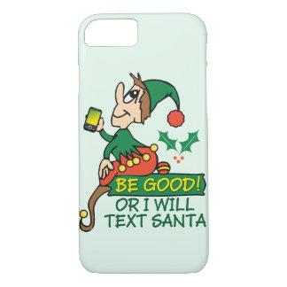 Capa iPhone 8/ 7 Design engraçado do duende do Natal
