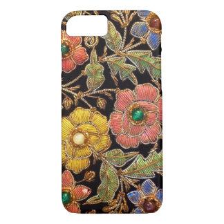 Capa iPhone 8/ 7 Design floral colorido do vintage da miçanga de