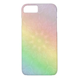 Capa iPhone 8/ 7 Design legal e colorido da mandala do arco-íris