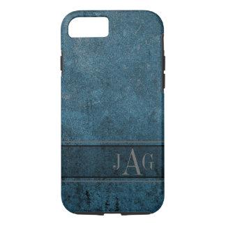 Capa iPhone 8/ 7 Design rústico do livro azul do Grunge