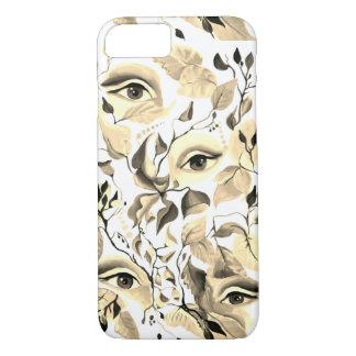Capa iPhone 8/ 7 Design surreal dos olhos do Sepia visionário