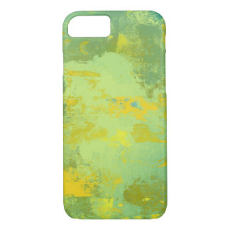 Capa iPhone 8/ 7 Design verde e amarelo da arte abstracta