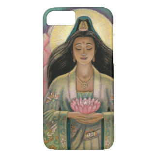 Capa iPhone 8/ 7 Deusa de Kuan Yin do caso do iPhone 7 da piedade