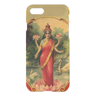 Capa iPhone 8/7 Deusa Hindu Lakshmi da flor de Lotus do vintage