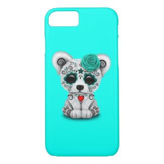 Capa iPhone 8/ 7 Dia azul do urso polar do bebê inoperante