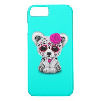 Capa iPhone 8/ 7 Dia cor-de-rosa do urso polar do bebê inoperante