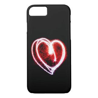 Capa iPhone 8/ 7 Dia dos namorados com coração vermelho de