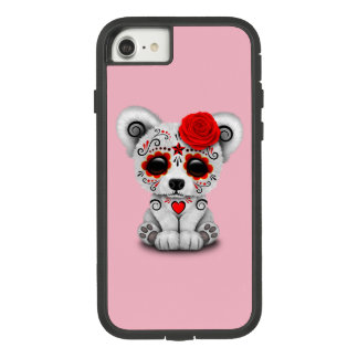 Capa iPhone 8/ 7 Dia vermelho do urso polar do bebê inoperante