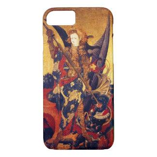 Capa iPhone 8/ 7 Diabo vencendo de St Michael como o cavaleiro