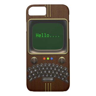 Capa iPhone 8/ 7 Dispositivo de comunicação portátil #1A do vintage