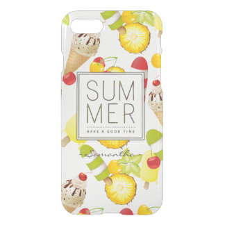 Capa iPhone 8/7 Divertimento das frutas e do gelado do verão