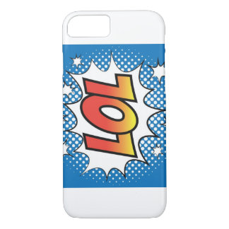 Capa iPhone 8/ 7 Divertimento do pop art de LOL e cobrir jazzístico