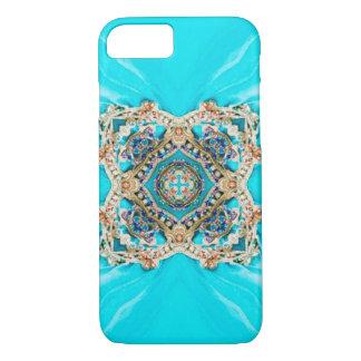 Capa iPhone 8/ 7 Do aqua étnico aciganado de turquesa do Hippie