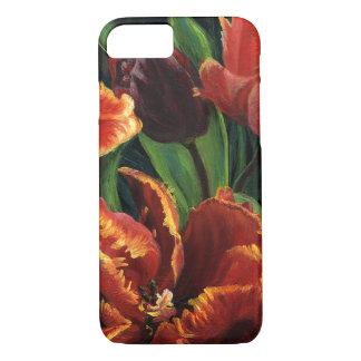 """Capa iPhone 8/ 7 Do """"capa de telefone do Triptych das tulipas"""