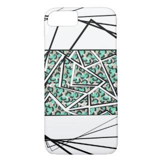 Capa iPhone 8/ 7 Do impressão verde do leopardo do Lucite teste