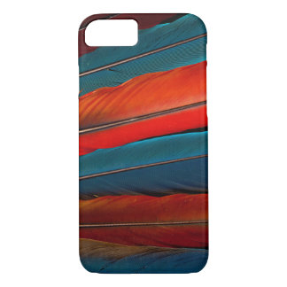 Capa iPhone 8/ 7 Do Macaw escarlate de penas de cauda