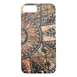 Capa iPhone 8/ 7 Do Tapa havaiano primitivo do tatuagem de Kapa