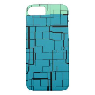 Capa iPhone 8/ 7 Do verde azul da cerceta do Aqua teste padrão
