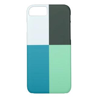 Capa iPhone 8/ 7 Do verde branco da cerceta de carvão turquesa azul