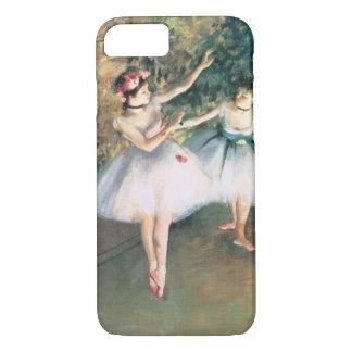 Capa iPhone 8/ 7 Dois dançarinos em um palco por Edgar Degas, arte