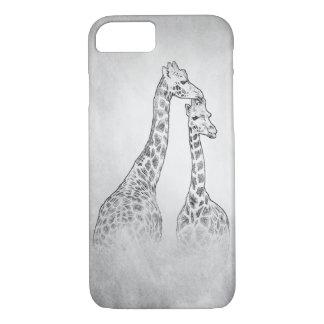 Capa iPhone 8/ 7 Dois girafas