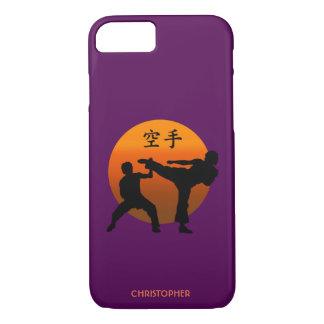 Capa iPhone 8/ 7 Dois lutadores do karaté com ascensão Sun