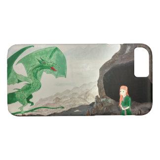 Capa iPhone 8/ 7 Dragão e menina da fantasia