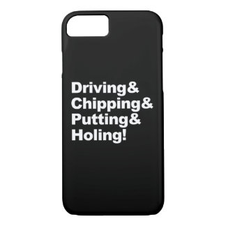 Capa iPhone 8/ 7 Driving&Chipping&Putting&Holing (branco)