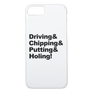 Capa iPhone 8/ 7 Driving&Chipping&Putting&Holing (preto)