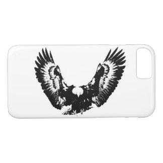 Capa iPhone 8/ 7 Eagle preto & branco