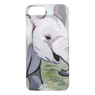 Capa iPhone 8/ 7 Elefante 2 do bebê (arte de Kimberly Turnbull)