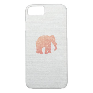 Capa iPhone 8/ 7 Elefante cor-de-rosa do brilho do ouro
