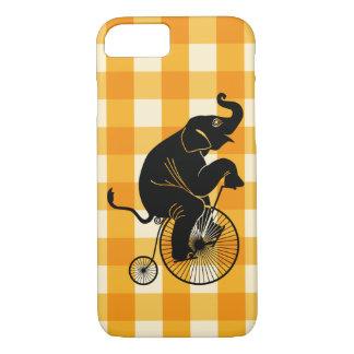 Capa iPhone 8/ 7 Elefante que monta uma bicicleta do Farthing da