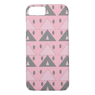 Capa iPhone 8/ 7 Elegante engraçado cinzento cor-de-rosa macio do