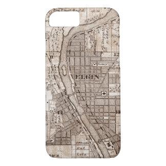 Capa iPhone 8/ 7 Elgin Illlinois 1870 Plat o centro do rio do Fox
