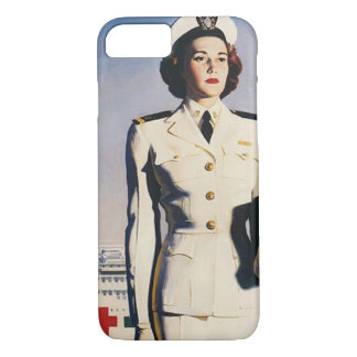 Capa iPhone 8/ 7 Enfermeira do marinho do vintage WWII