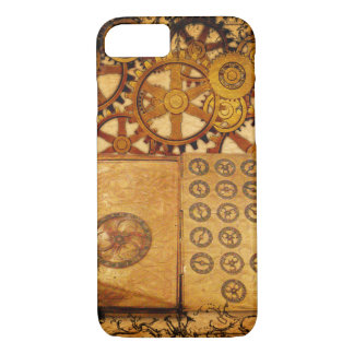 Capa iPhone 8/ 7 Engrenagens de Steampunk do Grunge