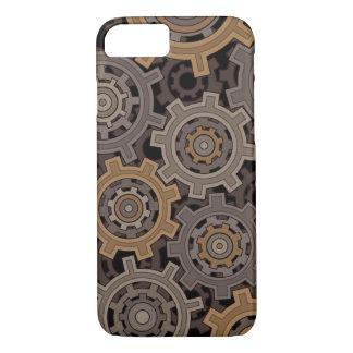 Capa iPhone 8/ 7 Engrenagens industriais do estilo de Steampunk