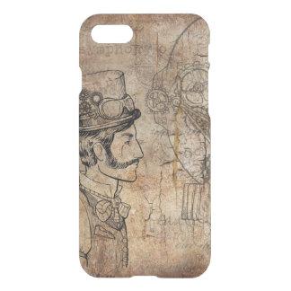 Capa iPhone 8/7 Engrenagens retros do cavalheiro de Steampunk