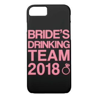 Capa iPhone 8/ 7 Equipe 2018 do bebendo da noiva