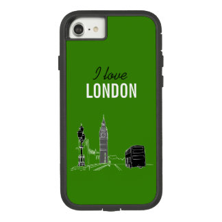 Capa iPhone 8/ 7 Esboço à moda moderno Big Ben elegante de Londres