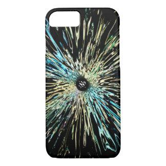 Capa iPhone 8/ 7 Esboço colorido psicadélico de uma íris