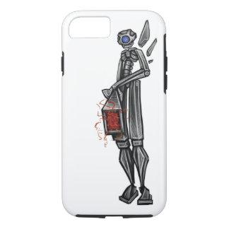 Capa iPhone 8/ 7 Esboço Geeky do artilheiro Mech do robô perto: